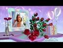 Открытка женщине с Днем Рождения. Бесплатный мини-проект PSP