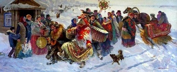 Веселись народ, Праздник в дом идёт! Пусть ликует православный, Праздник светлый,...