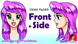 How to Draw a Face | Draw Front vs Side View | Beautiful Anime, Manga Tutorial | Fun2draw Art Class