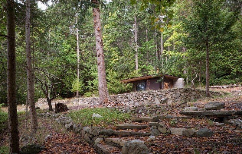 Современный дом для работы в одиночестве от Olson Kundig