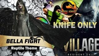 Resident Evil 8 Village Bella Fight Knife Only But Reptile Theme (Mortal Kombat) | 1440p