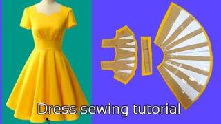 151 - Hướng dẫn cắt may Đầm xếp ly dáng xoè đổ sóng đẹp Le fashion |how to sew dress |