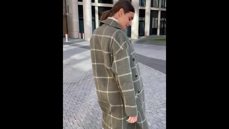 Пальто из двухслойной двусторонней ткани Шерсть 80% альпака 8% 🦙 Швы ручной работы Сделано в Италии Oversize Цвета оливк