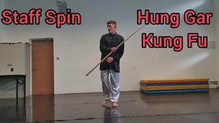 Hung Gar Kung Fu - Staff - 1 handed push spin