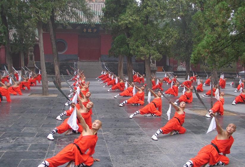 Тренировки монахов