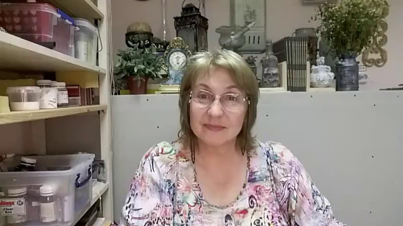 Кашпо с кракелюром