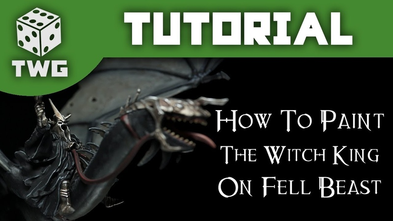 How To Paint The Witch King on Fell Beast Lord Of The Rings Tutorial The War Gamer