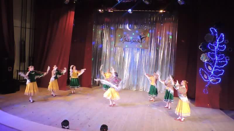 Казачий танец с платками Х С Грация Отчетный концерт ДДЮТ г.Туймазы 2019 04 20 DSCN8833