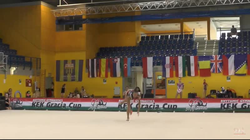 Карина Кузнецова - булавы (многоборье) Gracia Fair Cup 2019