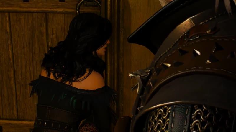 Шалуны Геральт и Йеннифер подглядывают за Цириллой