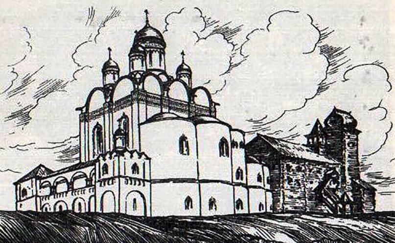 Реконструкция С.С. Подъяпольского (справа - палаты Строгановых).