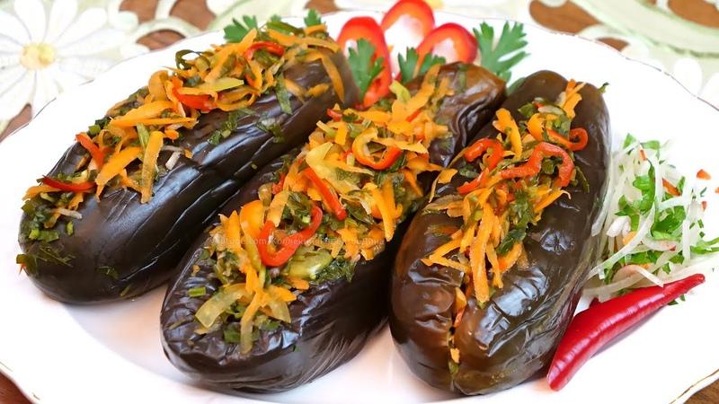 Квашеные баклажаны фаршированные овощами на зиму и не только рецепт без уксуса