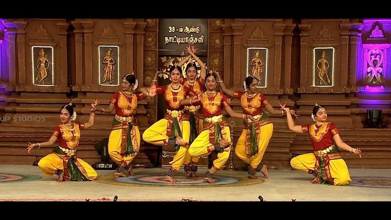 SDN in Chidambaram Natyanjali 2019 Lathangi Varnam part 1 Bharathanatyam