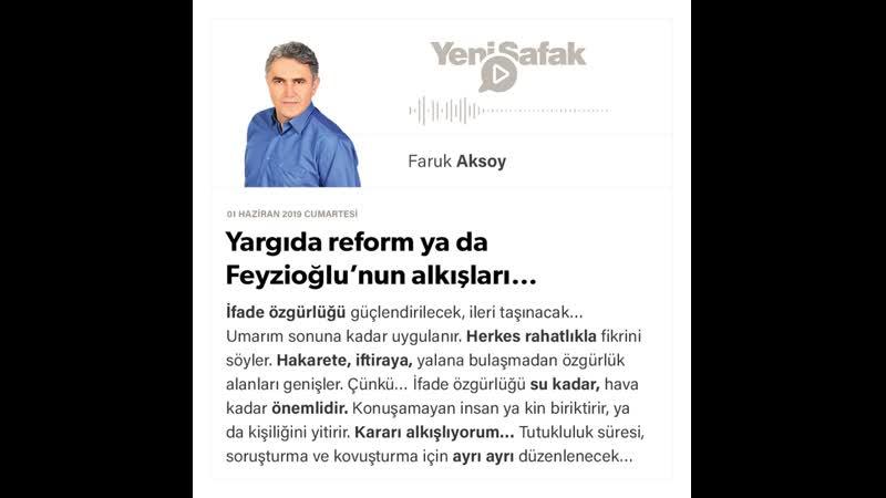 Faruk Aksoy - Yargıda reform ya da Feyzioğlu'nun alkışları… - 01.06.2019