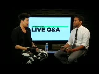 2012-05-15 - Billboard Q&A - Full interview with Adam Lambert