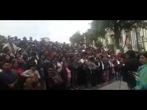 Alcaldes municipales de los 9 departamentos protestaron en La Paz